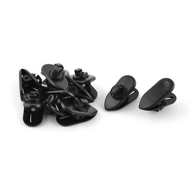 Clothes Clamp Cable Wire Organizer Rotating Mount Earphone Cord Clip Black 10pcs