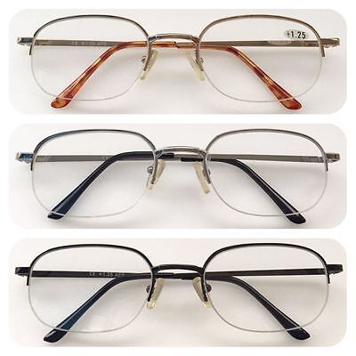 A25 High Quality Semi-Rimless Reading Glasses/Unisex/Classic Style Great Designs