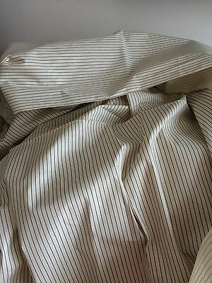 VINTAGE 1920s DECO FABRIC STRIPE RETRO SHIRT MATERIAL CUSHIONS UPHOLSTERY FRENCH
