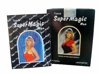 2 6 9 Boxes Super Magic Man Wet Tissue Antiseptic Control Premature Ejaculation