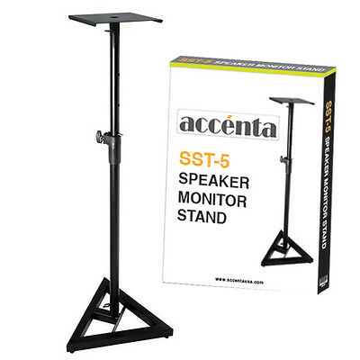 Accenta SST-5 Heavy Duty Professional Studio Monitor Stand - SINGLE STAND