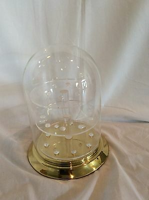 "24 Thimble Glass Dome with Brass Base (no thimbles included) 5.5"" x 8"" #820tpbr"