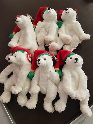 Lot of 6 Ty Beanie Boppers Plush Lovey Doll ~  Retired  New With Tags SNOWDRIFT