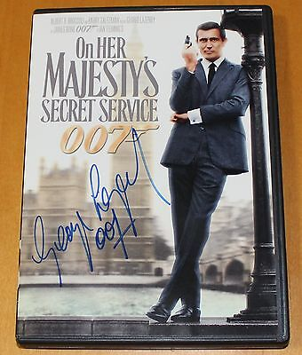ON HER MAJESTY'S SECRET SERVICE James Bond 007 DVD signed by GEORGE LAZENBY