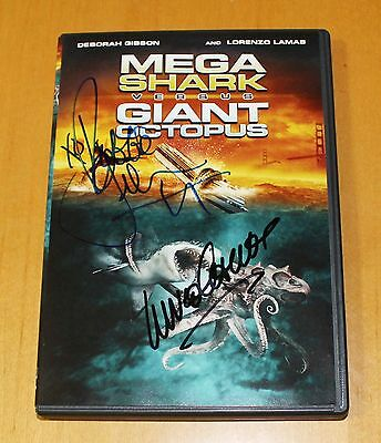 MEGA SHARK VERSUS GIANT OCTOPUS DVD signed by Debbie Gibson and Lorenzo Lamas