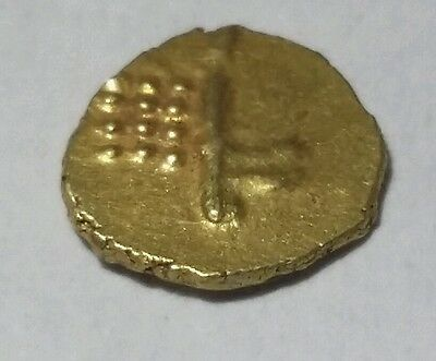 1 Gold Fanam coin of India, .4 Grams,  6 Grains Extremely nice condition