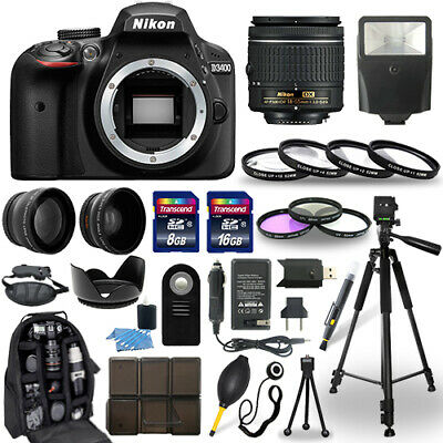 Nikon D3400 DSLR Camera + 18-55mm NIKKOR Lens + 30 Piece Accessory Bundle
