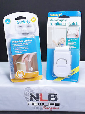 Safety 1st Multi-purpose Appliance latch & Wide Grip Latches 2PK DEAL