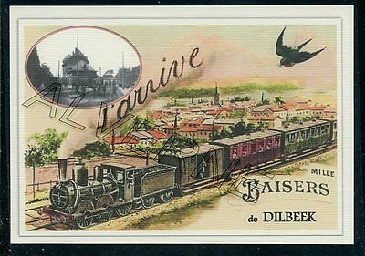 DILBEEK  -  train ... carte postale creation moderne serie numerotee