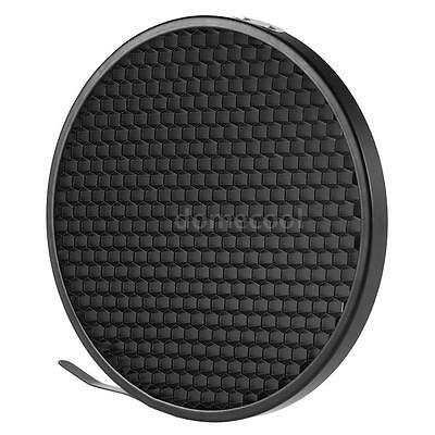 Studio Reflector Diffuser Lamp Shade Dish+Honeycomb Grid for Bowens Mount R5P4