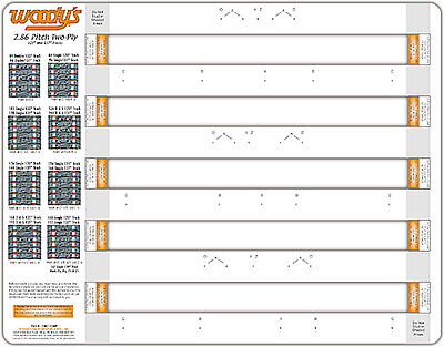Woodys 286T-TEMP  Woodys Studding Template 2.86 Pitch 2 Ply
