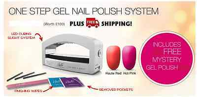 Haute One Step Gel Nail Polish System Dryer Lamp Light Manicure Kit Home USA