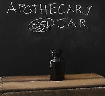 250ml Amber Apothecary Jar/Bottle (Amber, Wide Mouth)
