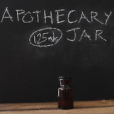 125ml Amber Apothecary Jar/Bottle  (Amber, Wide Mouth)