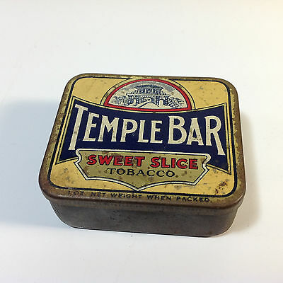 Vintage TEMPLE BAR Tobacco Tin