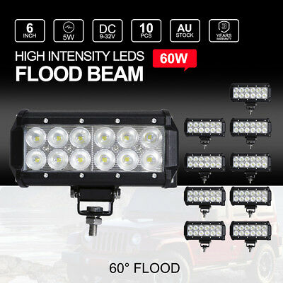 7 inch 380W CREE LED Spot Driving Lights Offroad Round Work Lamps Spotlights 7""