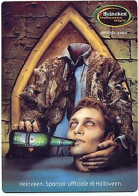 Heineken Beer European Halloween Ad - Large Fridge Magnet  - Zombie