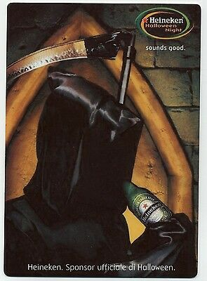 Heineken Beer European Halloween Ad - Large METAL Fridge Magnet  - Grim Reaper