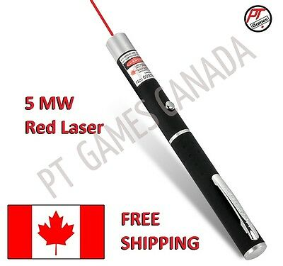 5mW RED Laser Pointer FREE FAST SHIPPING CANADIAN SELLER