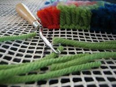 1 Latch hook with wooden handle - for rug making