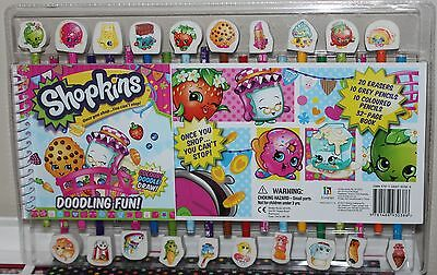 Shopkins Pencils, Erasers and Drawing Book Set