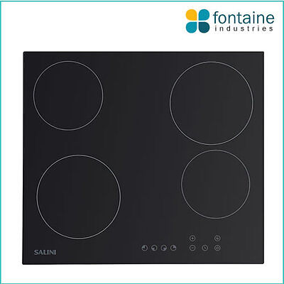 Salini Electric Cooktop 4 Hob Cooker Stove Glass 600mm NEW
