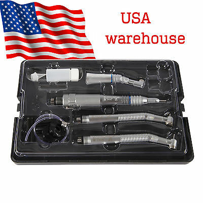 Yabangbang Dental High Low Speed Handpiece Kit Push Button 4Hole NSK Type IN USA