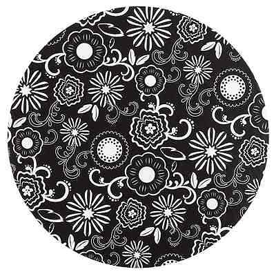 Wilton Round Cake Board - Black and White Flower - 12 inch - Cardboard set of 3
