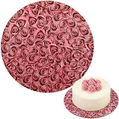 Wilton Round Cake Board - Roses - 12 inch - Cardboard set of 3