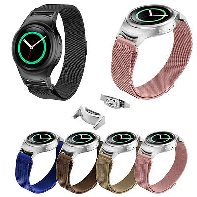 Useful Stainless Steel Watch Band + Connector Adapter For Samsung Gear S2 RM-720