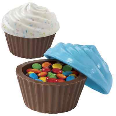 3-D Cupcake Look Container Classic Candy Mold-wilton