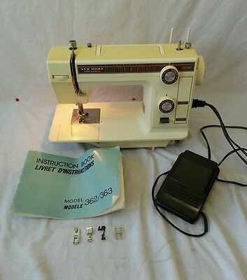 Vintage Janome 363 New Home Super Automatic 240V Sewing Machine