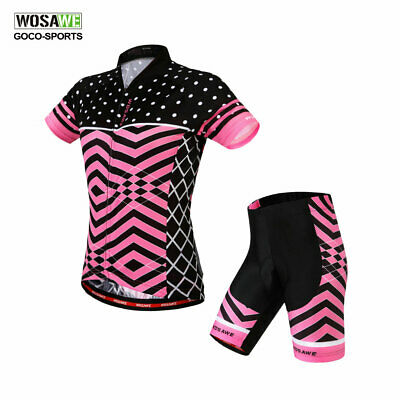 Sports Riding Bicycle Bike Cycling Women Clothing Short Sleeve Jersey Shorts Set