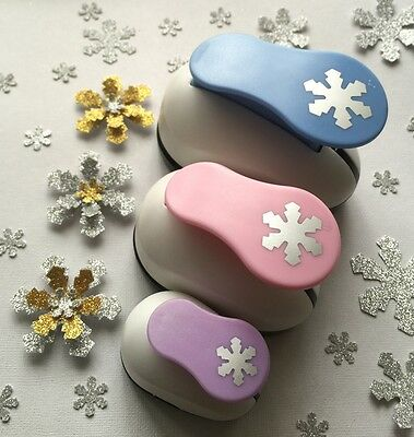 3X Snowflake Craft Paper Punches