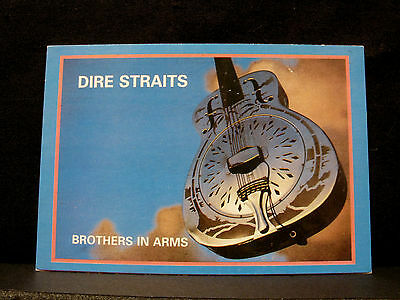 "Official Vintage Dire Straits Postcard Uk Import ""brothers In Arms"""