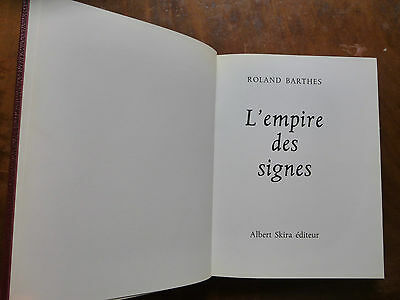 Roland Barthes, L'Empire des signes (e.o.)