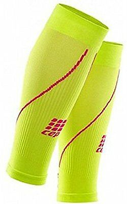 CEP Women's Progressive+ Compression Calf Sleeves 2.0 (Lime/Pink) Size: III