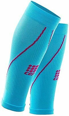 CEP Women's Progressive+ Compression Calf Sleeves 2.0 Hawaii Blue/Pink Size IV