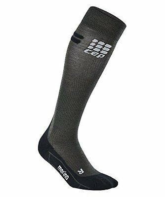 CEP Men's Progressive+ Run Merino Compression Socks Anthracite/Black Size V