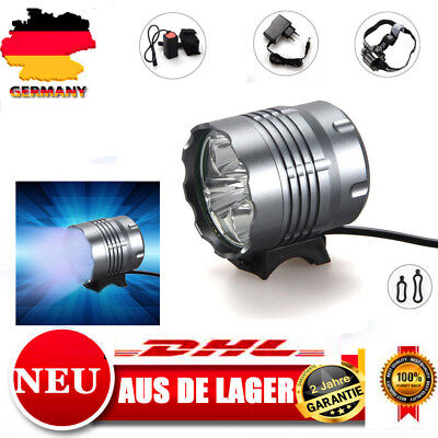 8000Lm 5 CREE XM-L U2 Fahrrad Lampe Scheinwerfer LED Head lamp light Headlight