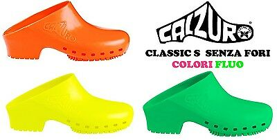 CALZURO CLASSIC S FLUO clogs professional CE latex fre man woman anti-static