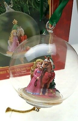 My First Pony Horse Breyer Glass Globe Christmas Ornament Collectible Serie 2008