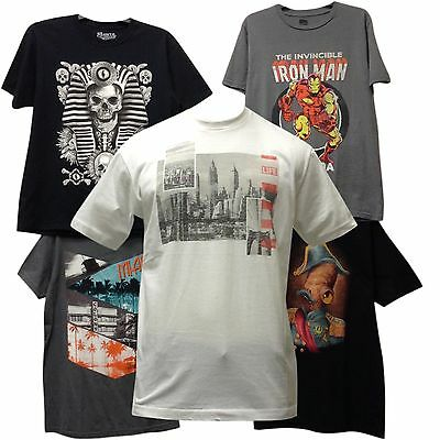 Wholesale lots 24 Pcs Mens Disney Licensed T Shirts Printed Assorted Authentic