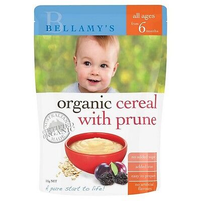 Bellamys Cereal With Prunes 125G NEW Cincotta Chemist