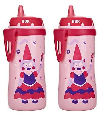 NUK Hard Spout Active Cup in Pink, 10-Ounce 2 Pack
