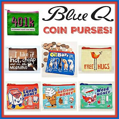 Buy 1 Get 1 50% OFF Blue Q COIN Pouch Purse Pouch Recycled Material