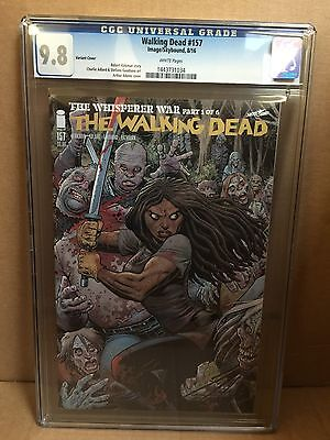 The Walking Dead 157 Adams Connecting Cover Variant CGC 9.8