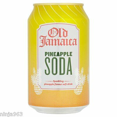 24 x Old Jamaica Pineapple Soda Can Fizzy Soft Drinks