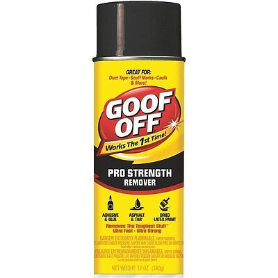 (2 Pk) William Barr 12Oz Goof Off Spray Dried Paint Remover