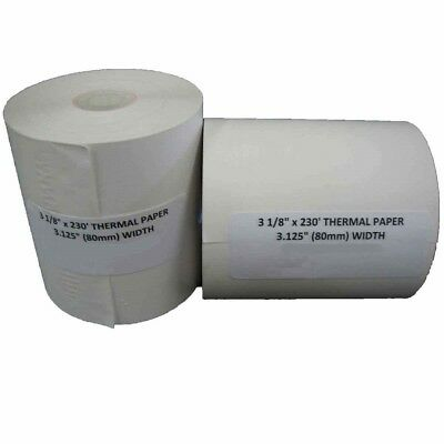 "3 1/8"" X 230' THERMAL POS CASH REGISTER RECEIPT PAPER - 10 Rolls per Case"